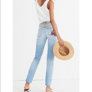 Madewell Strawberry Embroidered Summer Jeans
